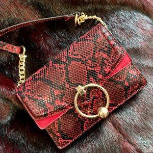 Topshop Selina Snake Crossbody Bag